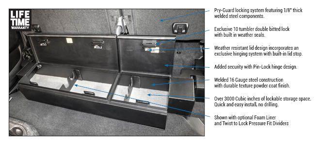 Underseat Lockbox Ram Trucks 2019 2020 Seat Storage Lockable Storage Lockbox
