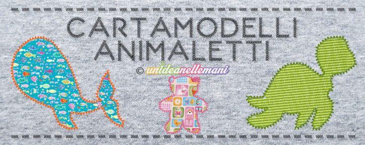 Cartamodelli Animali da stampare gratis per creare tante belle applicazioni in stoffa da cucire, graziose decorazioni in feltro, pannolenci o sagome di carta.