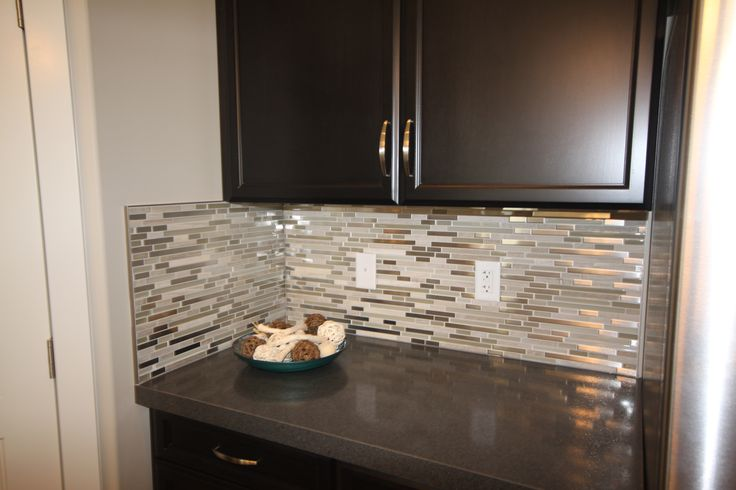 glass loft - titanium clay mix mosaic aceent tile for the kitchen