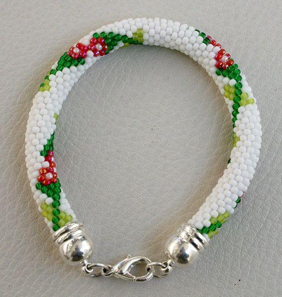 Bracelet with beads Japanese TOHO crochet Jewelry von Mulinka