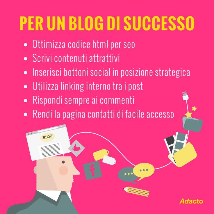 Sono tante le regole da seguire per avere un blog di successo! Qui ve ne elenchiamo alcune da non sottovalutare. Ne avete altre da aggiungere? #tips4business #blog