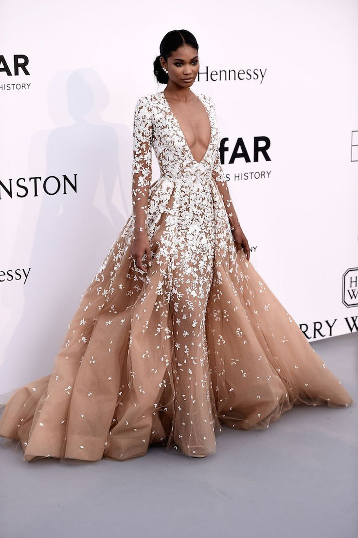 10 best looks from the amfAR Gala 2015 | CHANEL IMAN in Zuhair Murad Couture | NYLON