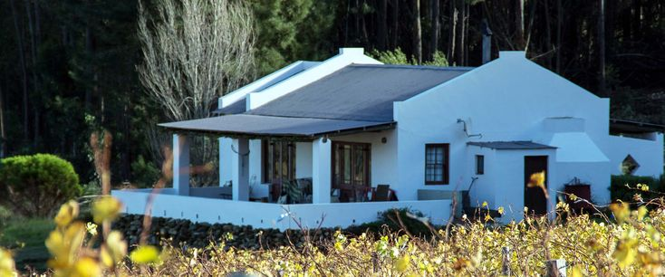 Spookfontein Cottages, Hemel en Aarde Valley. Right in the middle of the wine farms (walking/ cycling distance). Restaurant looks good.
