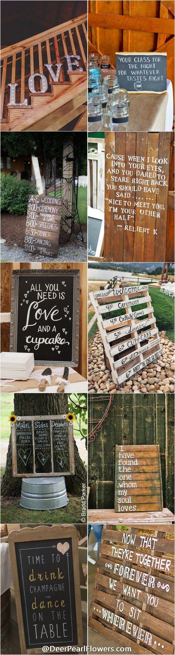 Rustic wedding signs - rustic country wedding ideas / http://www.deerpearlflowers.com/30-rustic-wedding-signs-ideas-for-weddings/