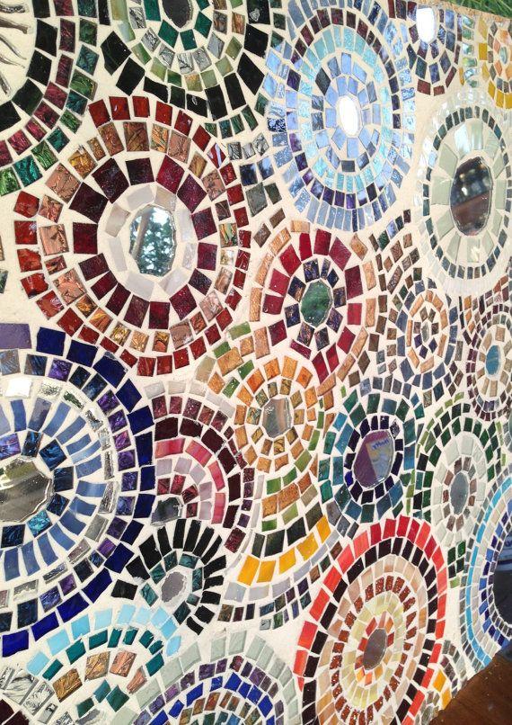 Large Decorative Abstract Mosaic Wall Art 2'x2' mirrors