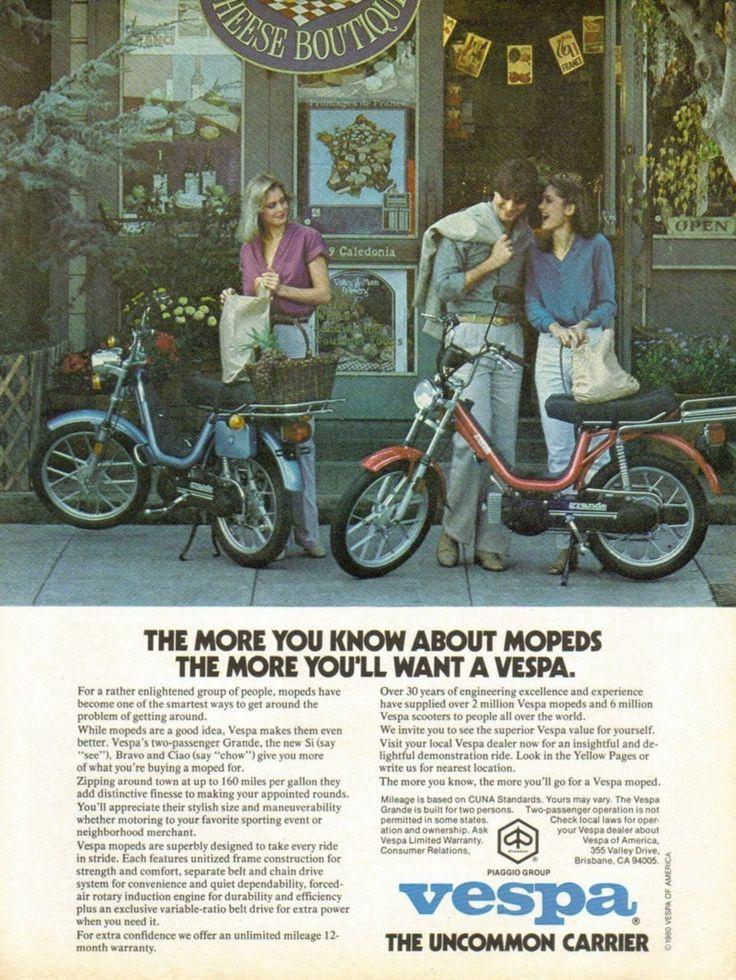 """1980 VESPA Moped Ad """"Grande Piaggio"""""""
