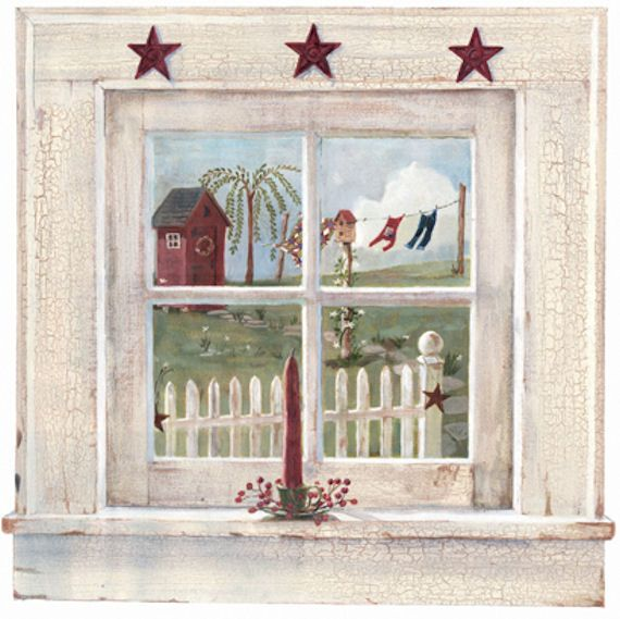 Outhouse Window Prepasted Mural Wall Sticker Outlet