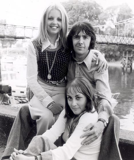 Sally Thomsett, Paula Wilcox and Richard Sullivan from Man About the House, 1973-76