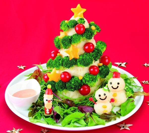 島袋一恵の楽しい未来づくり|沖縄でキャラ弁・販促:クリスマスレシピ♪ツリーポテトサラダ作り方!キャラ弁当