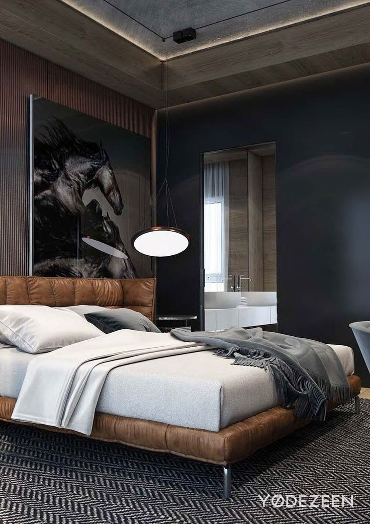Mens Interior Design Luxury 1049 Best The Men S Room Images On Pinterest Modern Bedroom Bedroom Interior Apartment Design