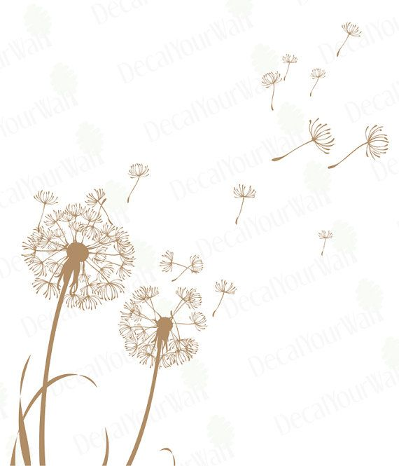 Dandelion Wall Decal Dandelion Seeds Flower Wall by decalyourwall