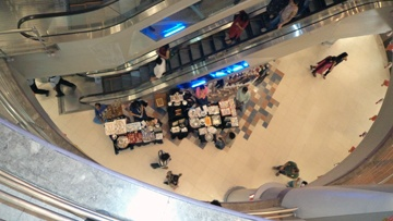 An aerial view of the Diwali Bazaar at Forum Mall.