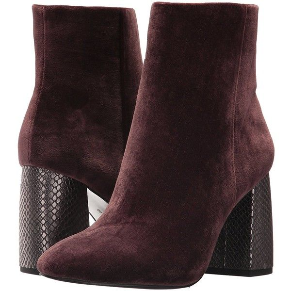 BCBG Generation Women's Allison Velvet Fashion Boot (1,585 MXN) ❤ liked on Polyvore featuring shoes, boots, velvet shoes, wide fit shoes, wide fit boots, bootie boots and wide width bootie