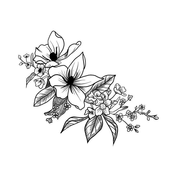 Открытки, черно-белые картинки цветов для распечатки