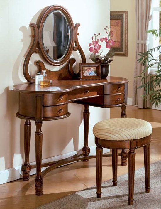 the carrington 3 piece vanity set will tastefully complement your decor with its traditional design