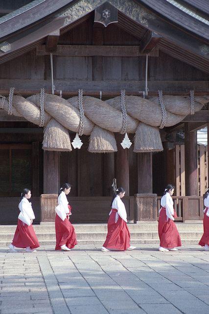 japan-9 by 転倒虫 - Omiko san( shrine maiden)- Shimane,Izumo