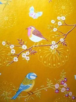 Eijffinger Pip Studio Wallcoverings Afmetingen 10M lang en 53CM breed Patroon: 64CM Kleur:goud - geel artikelnummer 386014 Pip Studio vliesbehang