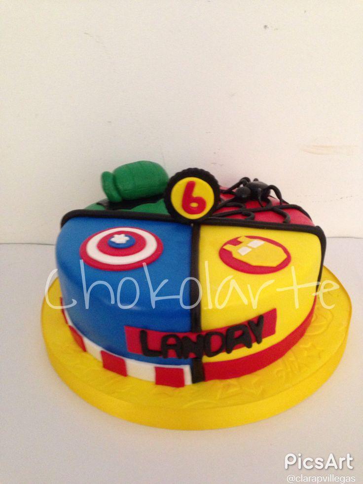 Torta súper heroes Tortas Cali