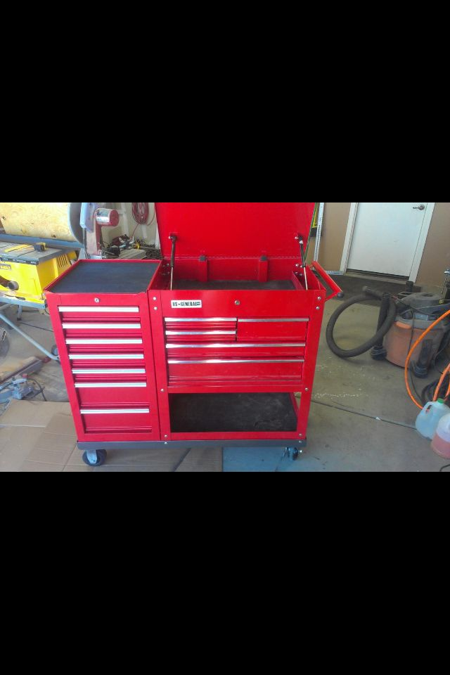 hf tool cart w side box