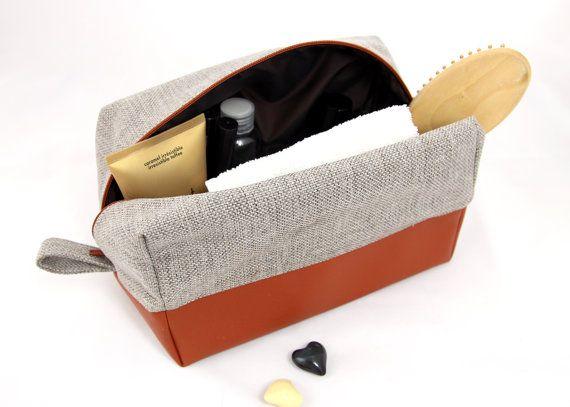 Large toiletry bag, dopp kit: vegan leather cosmetic bag travel toiletry bag big washbag for women