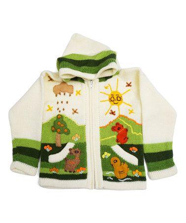 Love this Cutest Cream Sunshine Zip-Up Hoodie - Toddler & Kids on #zulily! #zulilyfinds