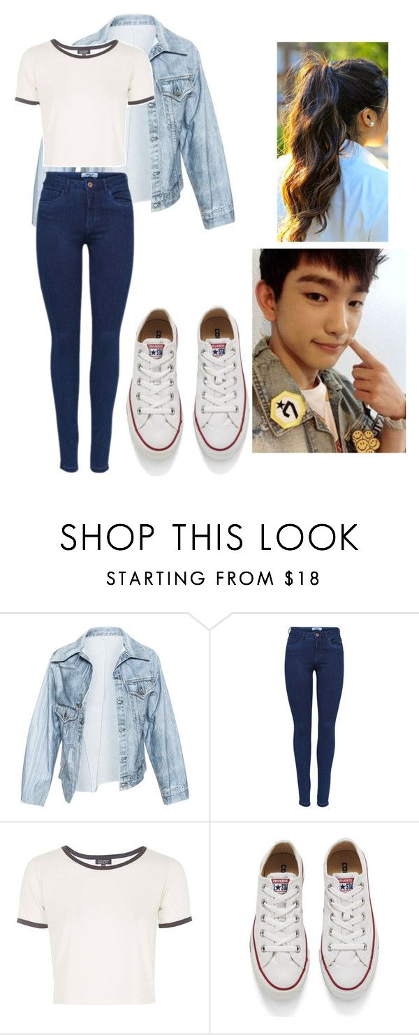 """""""Amusement Park with Got7 Jr"""" by pandagirl2102 ❤ liked on Polyvore featuring Faustine Steinmetz, Topshop, Converse, women's clothing, women, female, woman, misses and juniors"""