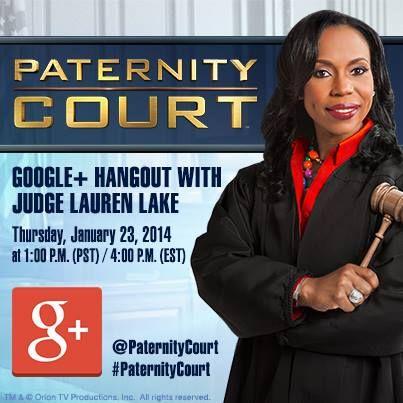 Google Hangout w/ Judge Lauren Lake of Paternity Court