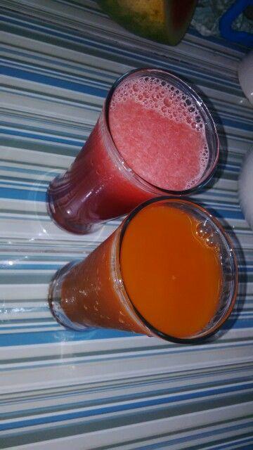 Fresh Juice! Watermelon vs Carrot