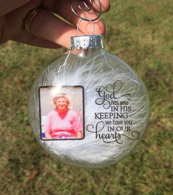 In memory Christmas ornament - Photo Christmas ornament - Memorial ...