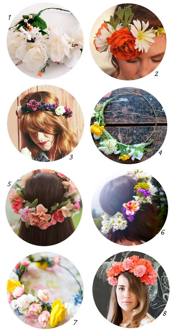 DIY flower crown - DIY: coronas de flores