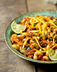 Tex-Mex Cavatappi (I wonder if you could make this meatless by using black beans instead of beef?)