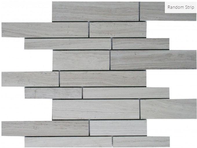 Escarpment Random Strip #tile #mosaic #faberstoneandtile