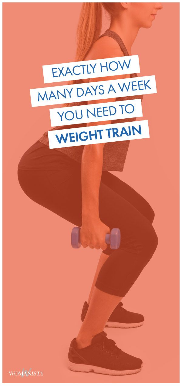 Ever wonder exactly how many days a week you should be weight training? Well we are letting you know exactly how many times you should be picking up the weights at the gym or at-home! Womanista.com