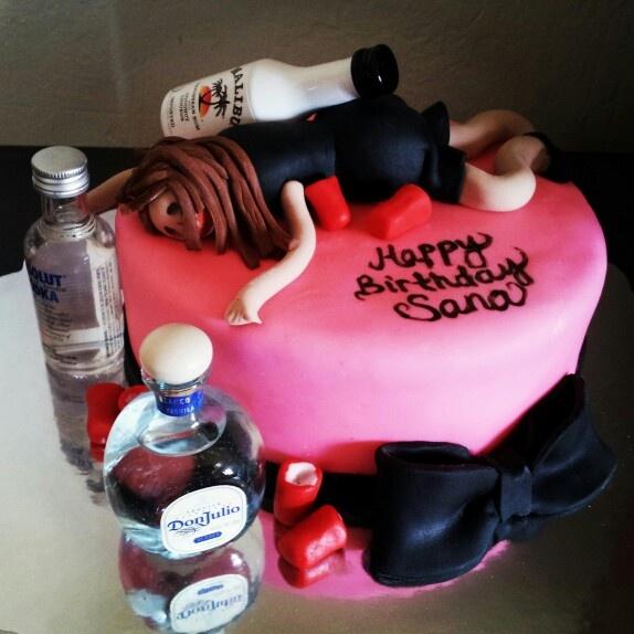 Drunk Girl Cake My Cakes In 2019 21st Birthday Cake