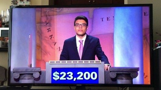 Smug Jeopardy Winner Rips Other Contestant's Heart Out By Beating Him By $1