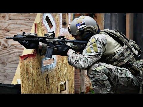 US Special Forces In Action During Close Quarter Combat - Special Forces Live Fire Combat Training