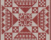 Stjärnblomma - Instant Download PDF cross-stitch pattern