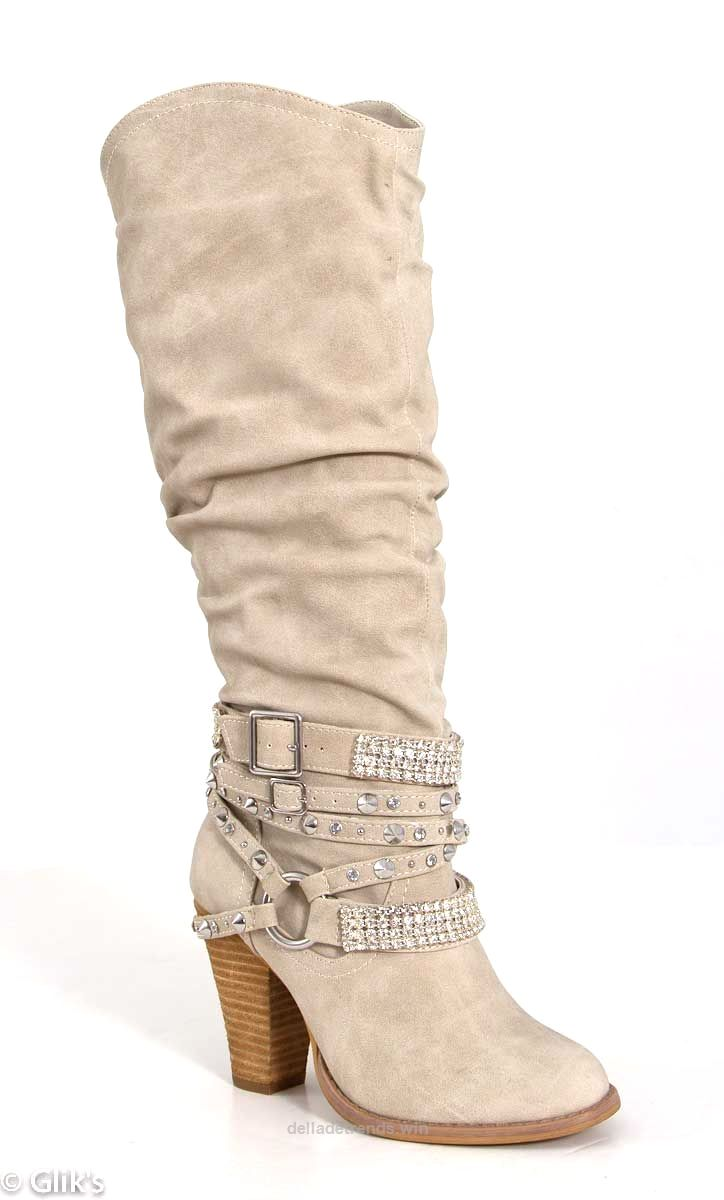 Not Rated Swag Boots for Women in Cream http://www.delladetrends.