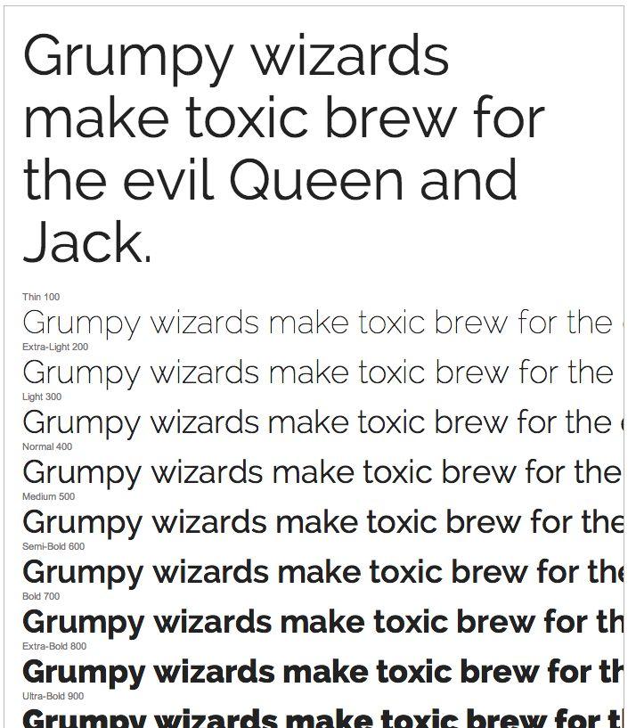 Raleway Google font