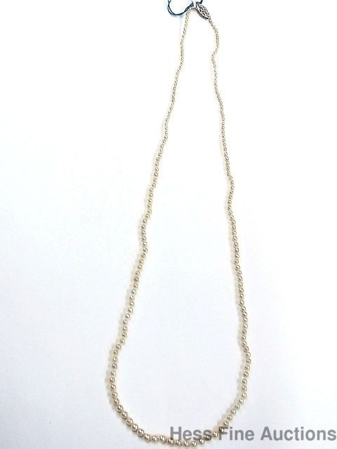 Genuine Rare GIA Natural Saltwater Pearl (Not Cultured) 14k Antique Necklace #StandString