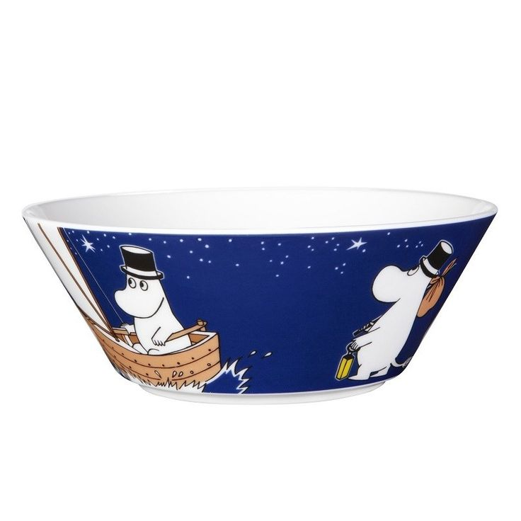 Serve dad some breakfast in Moomin style with super cool Pappa Deep Blue Moomin bowl and make mornings a little more fun !!