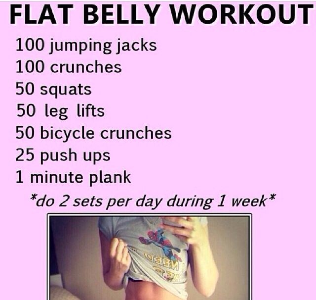 Flat belly workout tone up