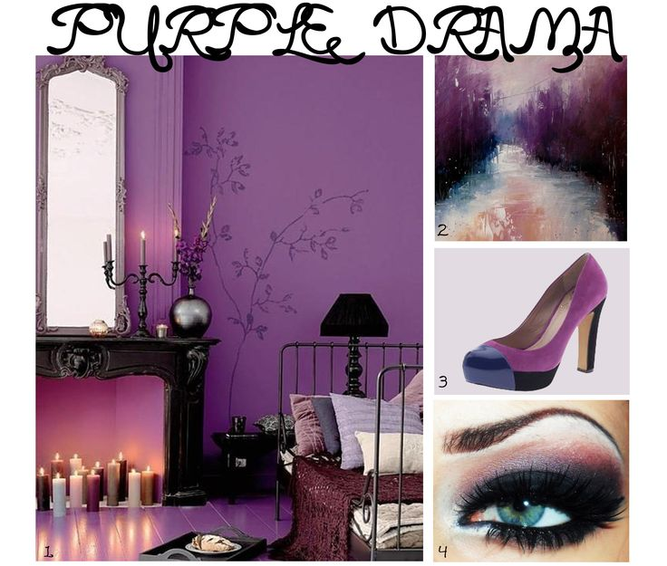 Our purple drama inspiration mood board
