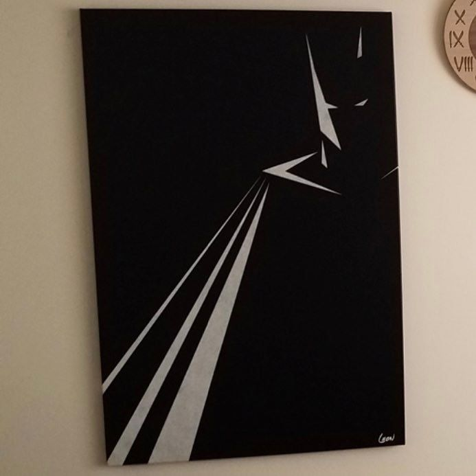 I love this minimalist #batman painting. Does anyone know who the artist is?