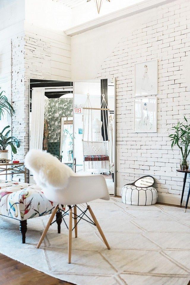 Die besten 25+ weiße Ziegel Tapete Ideen auf Pinterest Tapete - unbehandelte ziegelwand