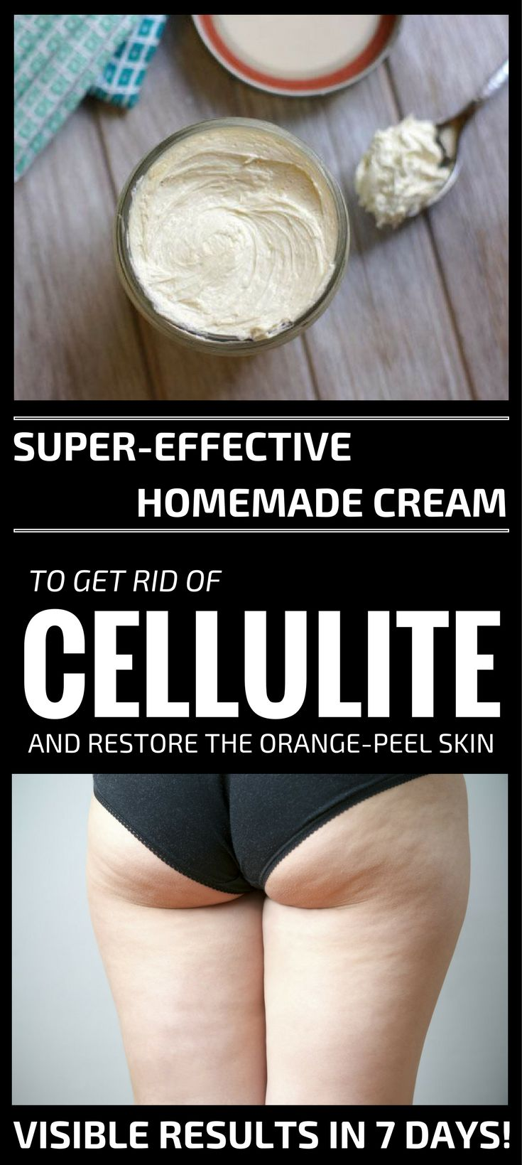 Super-Effective Homemade Cream To Get Rid Of Cellulite And Restore The Orange-Peel Skin