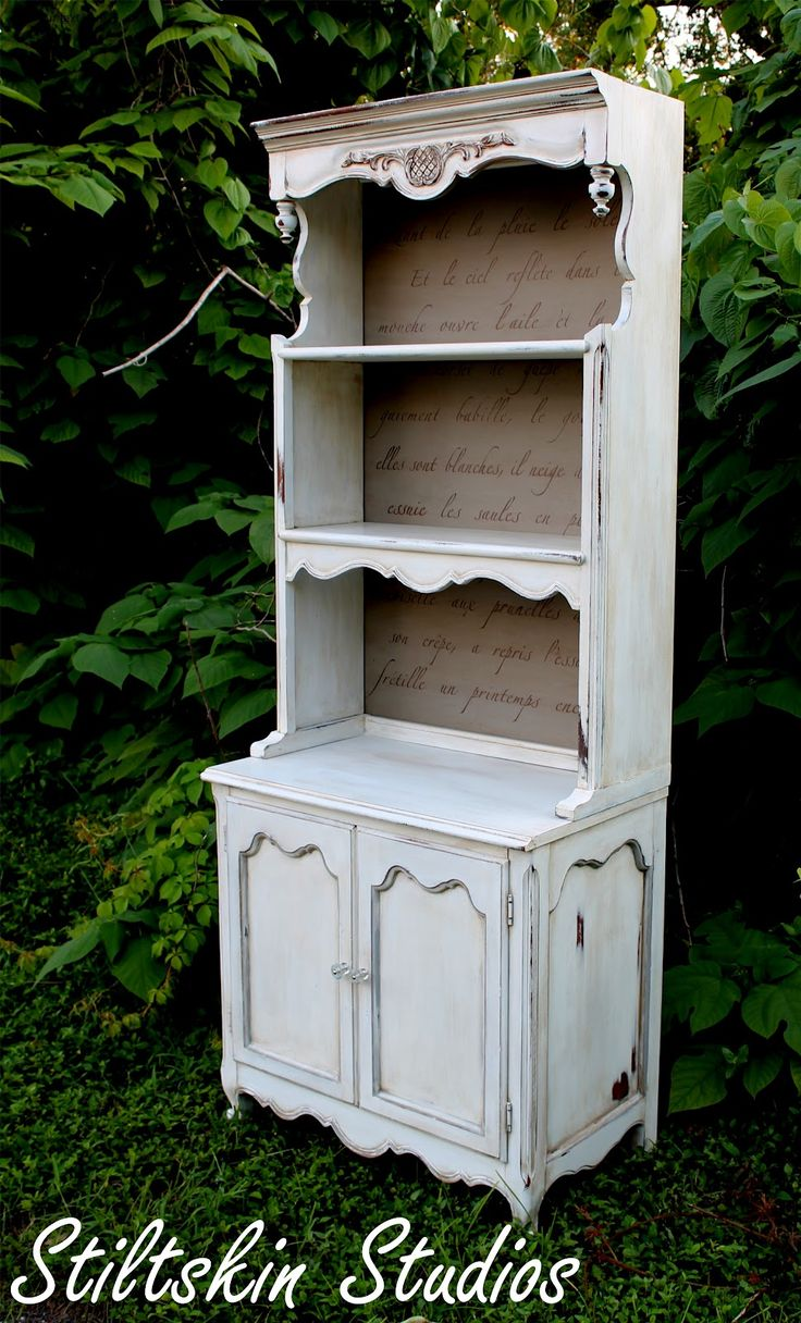 Stiltskin Studios: Pantry Hutch with Springtime in Paris french poem stencil.Poems Stencils, Collection Pantries, Paris French, Painting Furniture, French Poems, Gustavian Collection, Stiltskin Studios, Pantries Hutch, French Country Kitchens Hutch