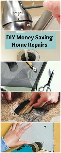 DIY Money Saving Home Repairs • Lots of Tutorials! From how to unclog a sink to how to patch a carpet and everything in between!