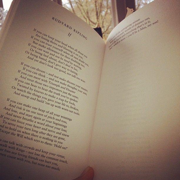Lettera al figlio di Rudyard Kipling.