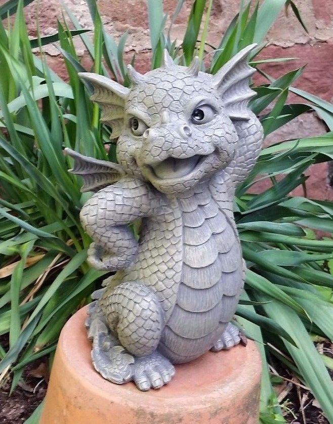Drache Pretty Bin Ich Schon Gartenfigur Garten Figur Deko Drache Neu Garten Terrasse Dekoration Gartenfig Dragon Decor Clay Dragon Polymer Clay Dragon